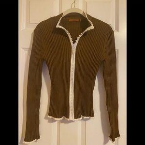 NWOT belldini scuba style ribbed sweater.